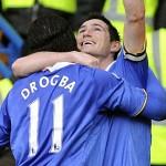 Frank Lampard festeja uno de los goles del Chelsea