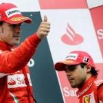 La dupla Alonso y Massa accedió al podio en Monza