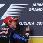 Vettel ganó en Suzuka y quedó segundo, junto a Alonso