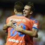Rodrigo y Alcácer  con el Valencia